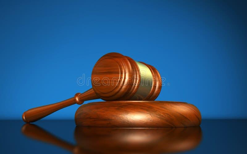 法律正义和法制系统 向量例证