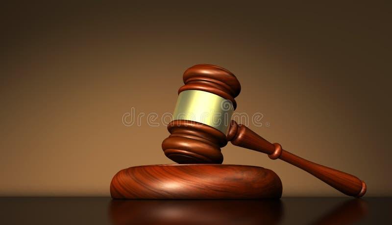 法律正义和法官标志 向量例证