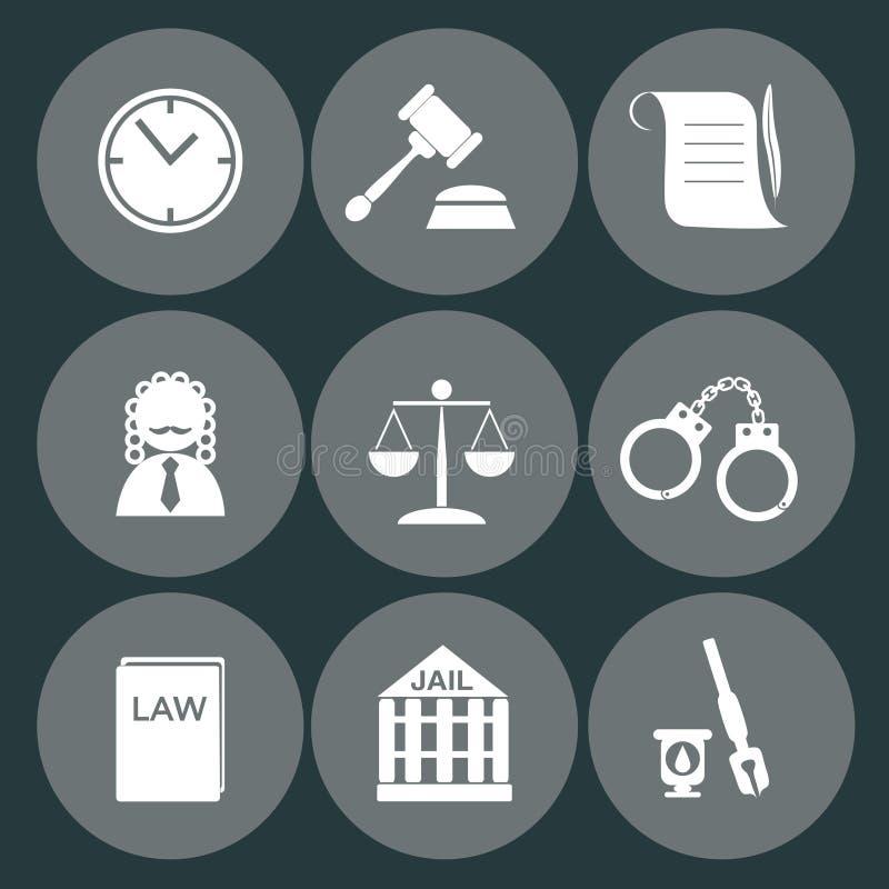法律法官象集合,正义标志 皇族释放例证