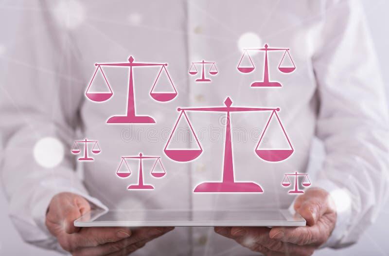 法律的概念 库存照片
