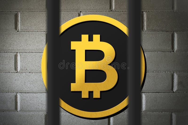 法律被取缔和制约的Bitcoin 皇族释放例证