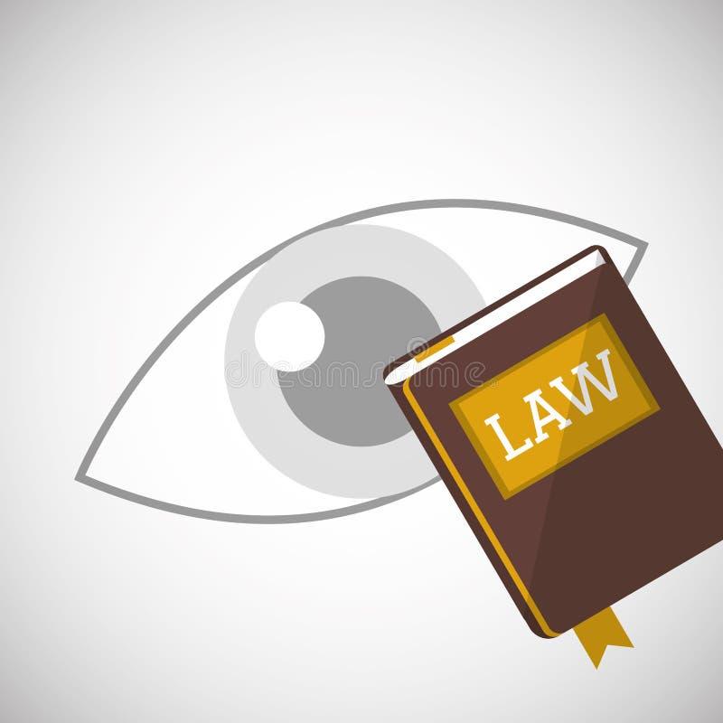 法律设计 正义象 平的例证,图表 向量例证