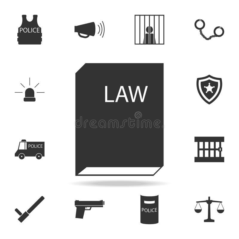 法律象书  详细的套警察元素象 优质质量图形设计 其中一个网站的汇集象, 库存例证