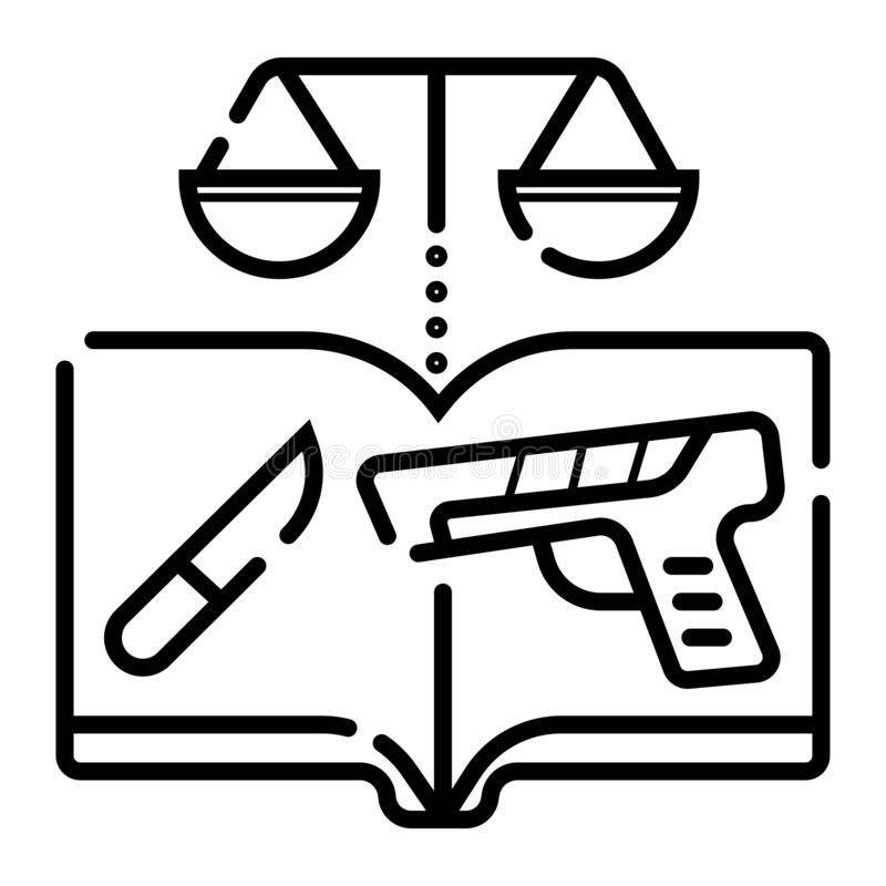 法律象传染媒介 向量例证