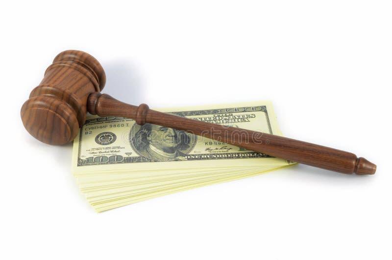 法律问题花钱 免版税库存照片