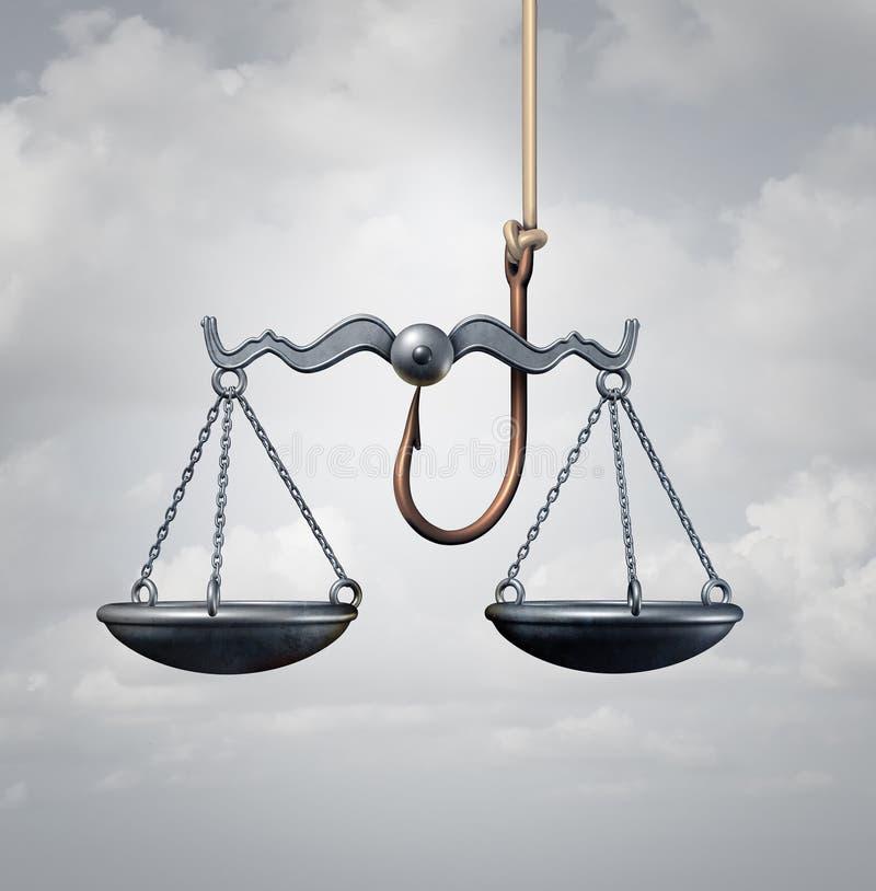 法律陷井法制系统 库存例证