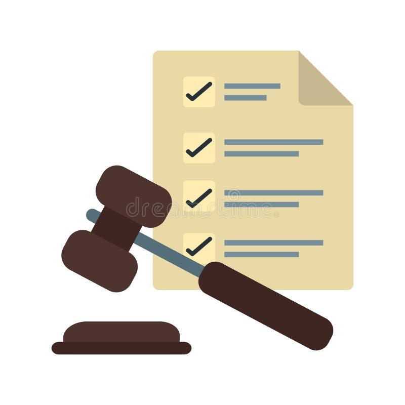 法律顺序 库存例证