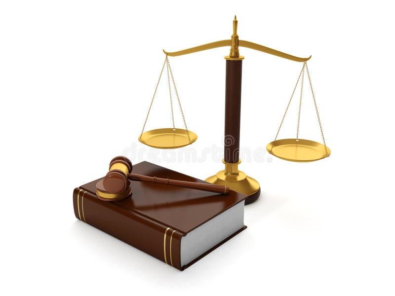 法律顾问的协助 库存例证