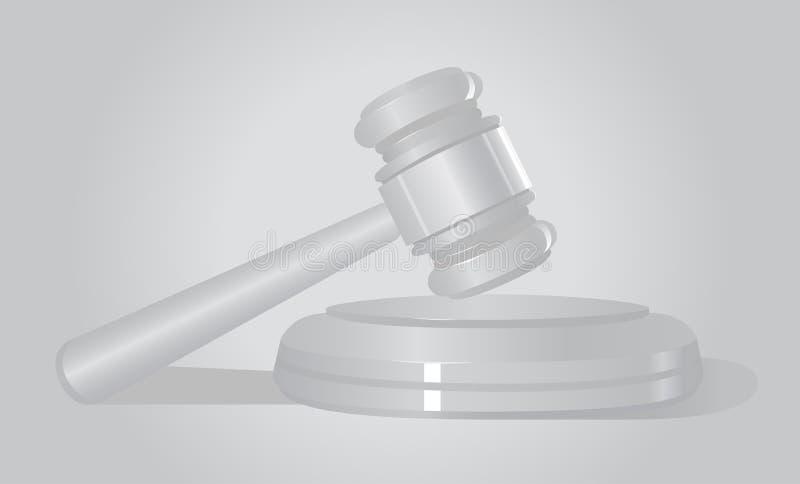 法律 法院锤子 奶油被装载的饼干 听众 皇族释放例证