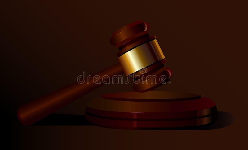 法律 法院锤子 抽象背景褐色排行照片 听众 库存例证