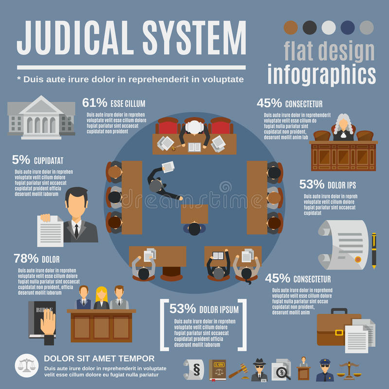 法律Infographics集合 皇族释放例证