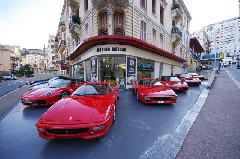 法拉利车商,摩纳哥马达 免版税库存照片