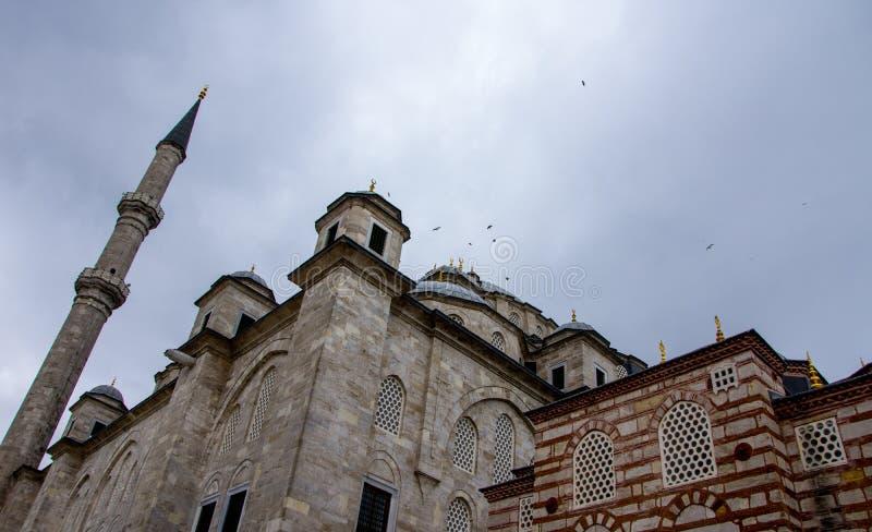 法提赫清真寺作为伊斯坦布尔一份著名遗产  免版税库存图片