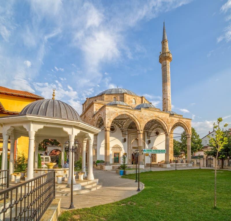 法提赫清真寺在普里什蒂纳 库存图片