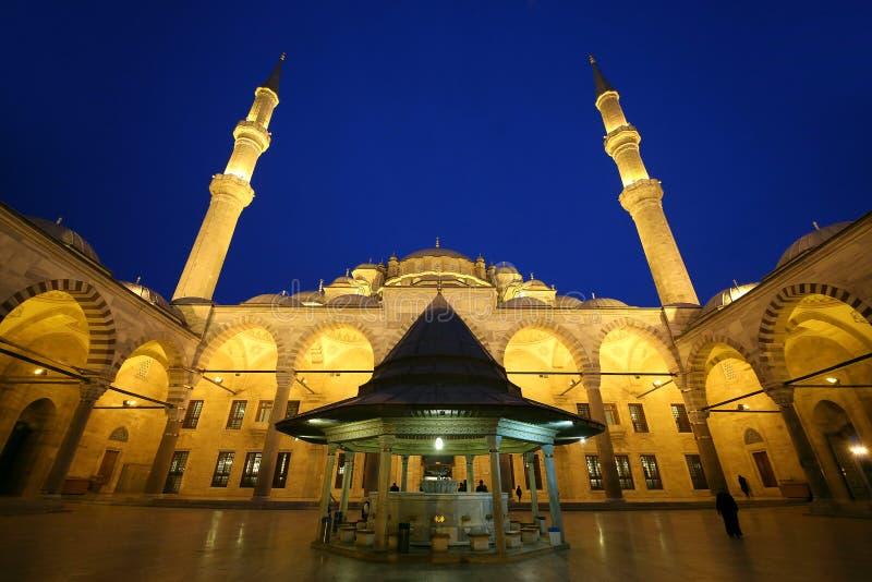 法提赫清真寺或征服者的清真寺 免版税库存照片