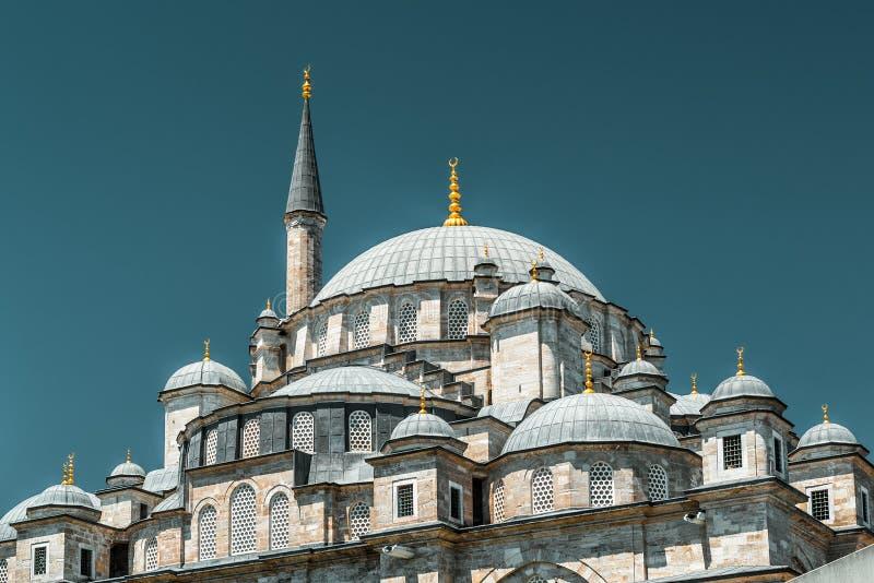 法提赫清真寺(征服者的清真寺)在伊斯坦布尔 库存图片