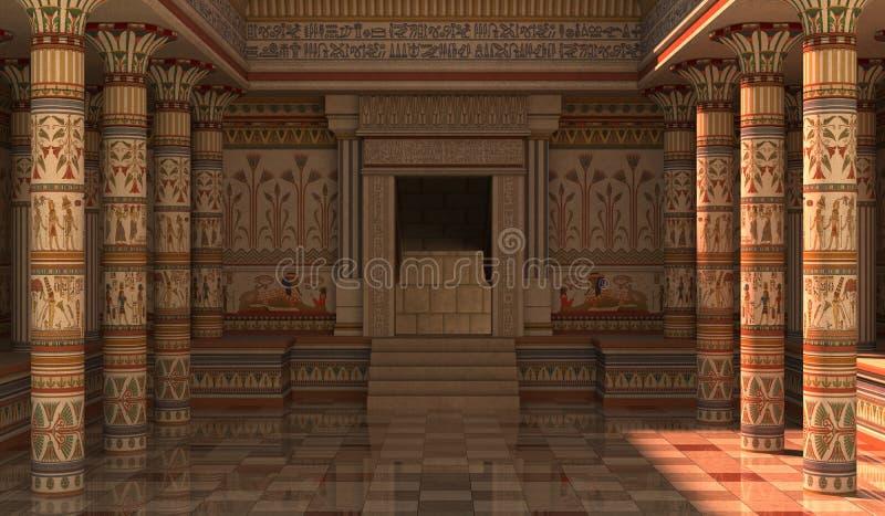 法老王宫殿3D例证 库存例证