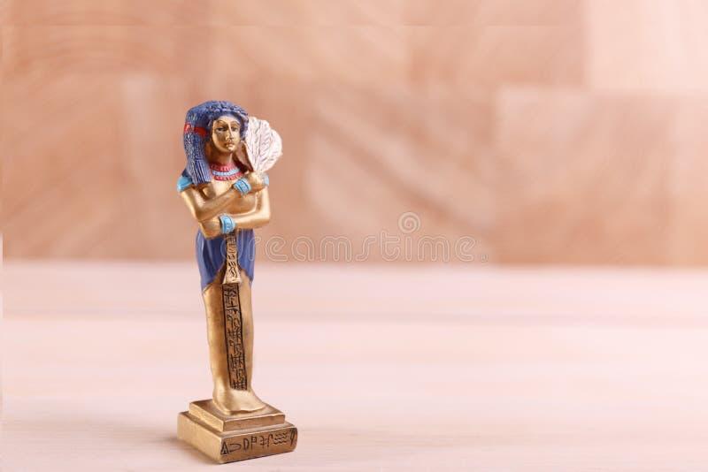 法老王的蓝发的小雕象 免版税库存图片