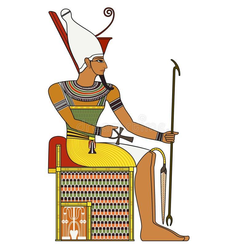 法老王,古埃及法老王被隔绝的图  皇族释放例证