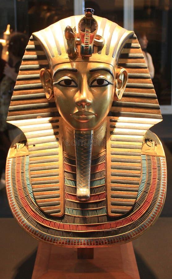 法老王tutankamon的陈列 库存图片