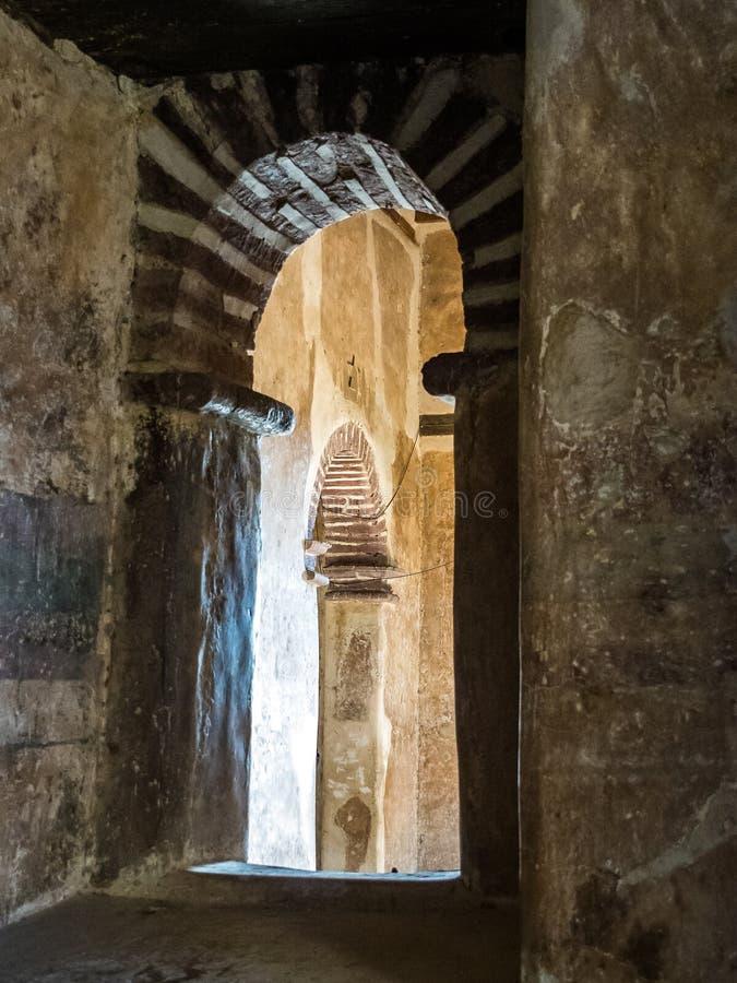 法西尔盖比是一个堡垒城市的遗骸在贡德尔,埃塞俄比亚内的 免版税库存照片