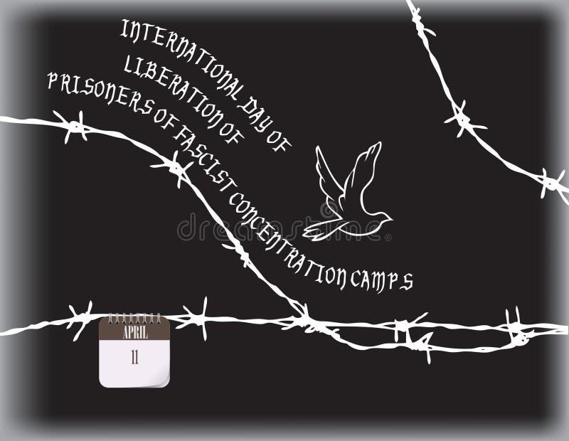 法西斯主义的阵营的囚犯的解放 皇族释放例证
