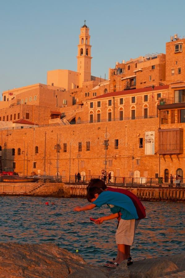 贾法角,特拉维夫, Yafo,以色列,中东 免版税图库摄影