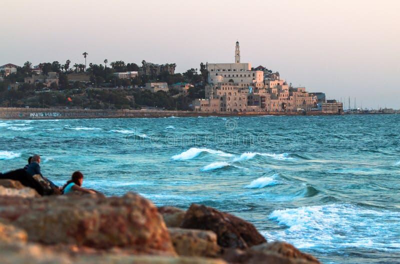 贾法角,以色列。 库存图片