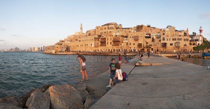 贾法角,以色列,中东耶路撒冷旧城  免版税库存照片