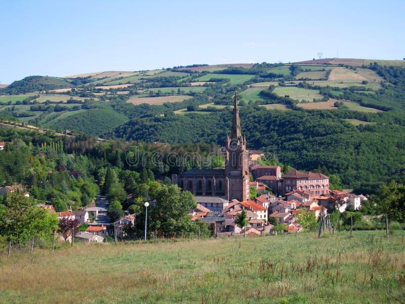 法语典型的村庄 库存照片