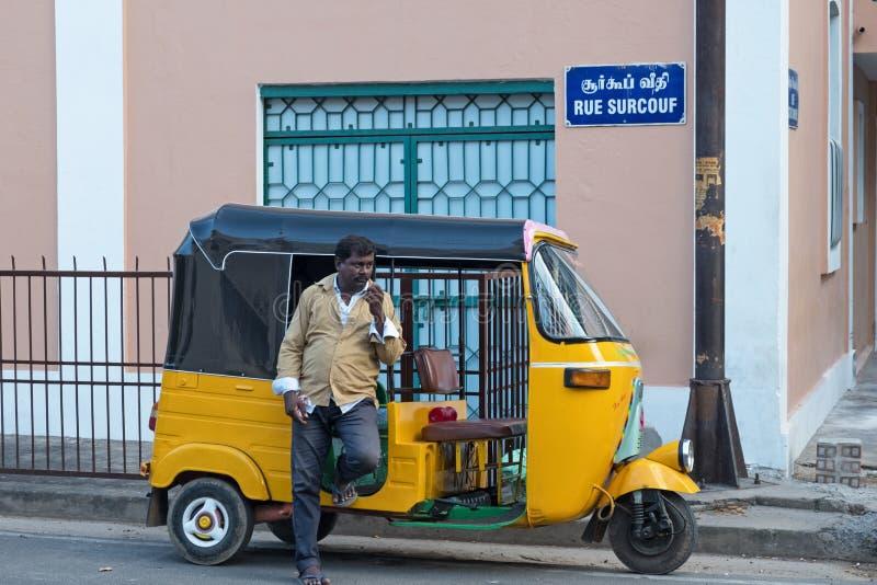 法语在印度影响 库存照片