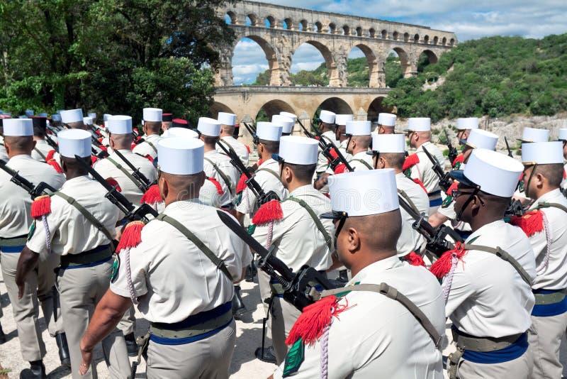 法语外国军队第2外部步兵养生之道 库存照片