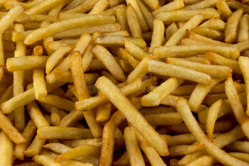 法语油煎了土豆紧密看法 免版税库存照片