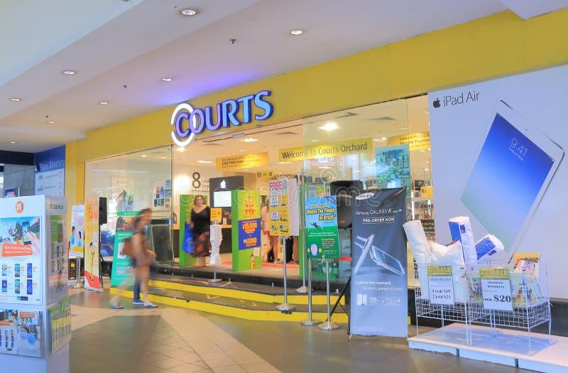 法院商店果树园路新加坡 免版税图库摄影