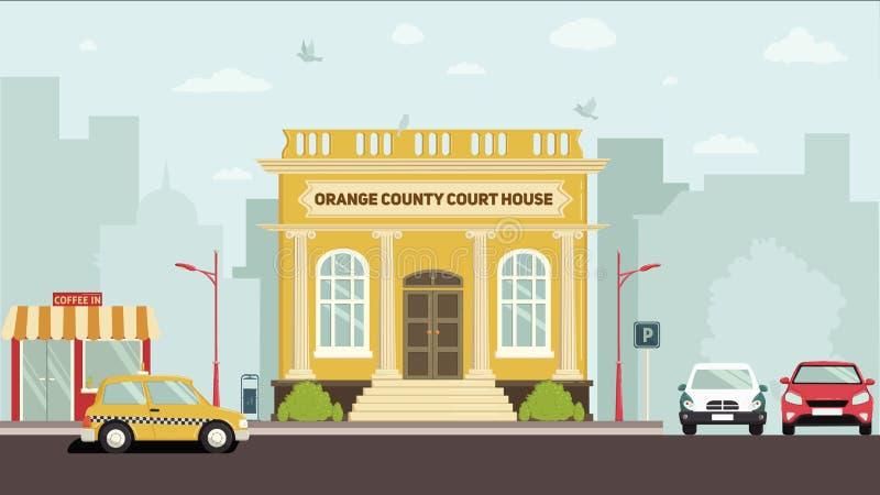 法院大厦 向量例证