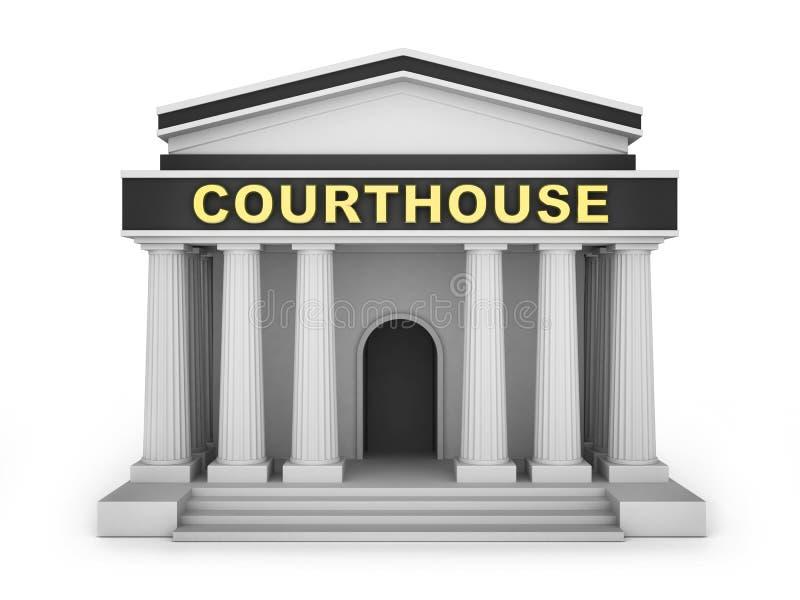 法院大楼修造小 皇族释放例证