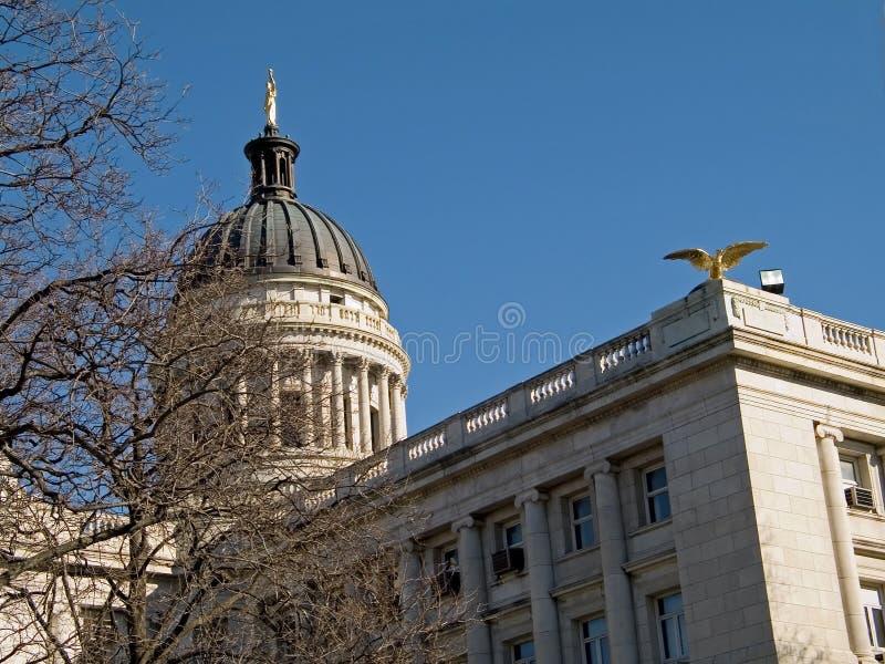法院大楼圆顶 免版税库存图片