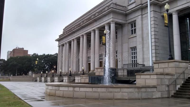 法院大楼型的大厦 库存照片