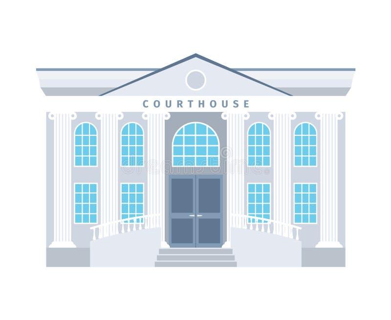 法院大楼平的大厦象 向量例证