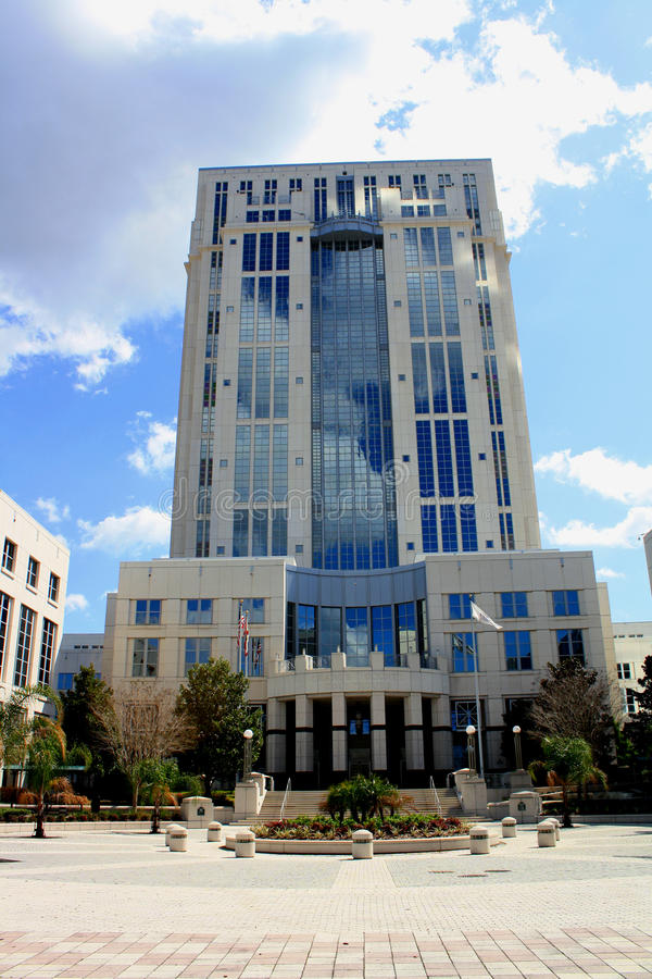 法院大楼街市佛罗里达奥兰多 库存图片