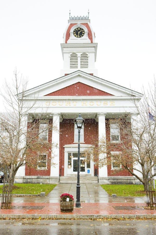 法院大楼,蒙彼利埃,佛蒙特,美国 库存照片