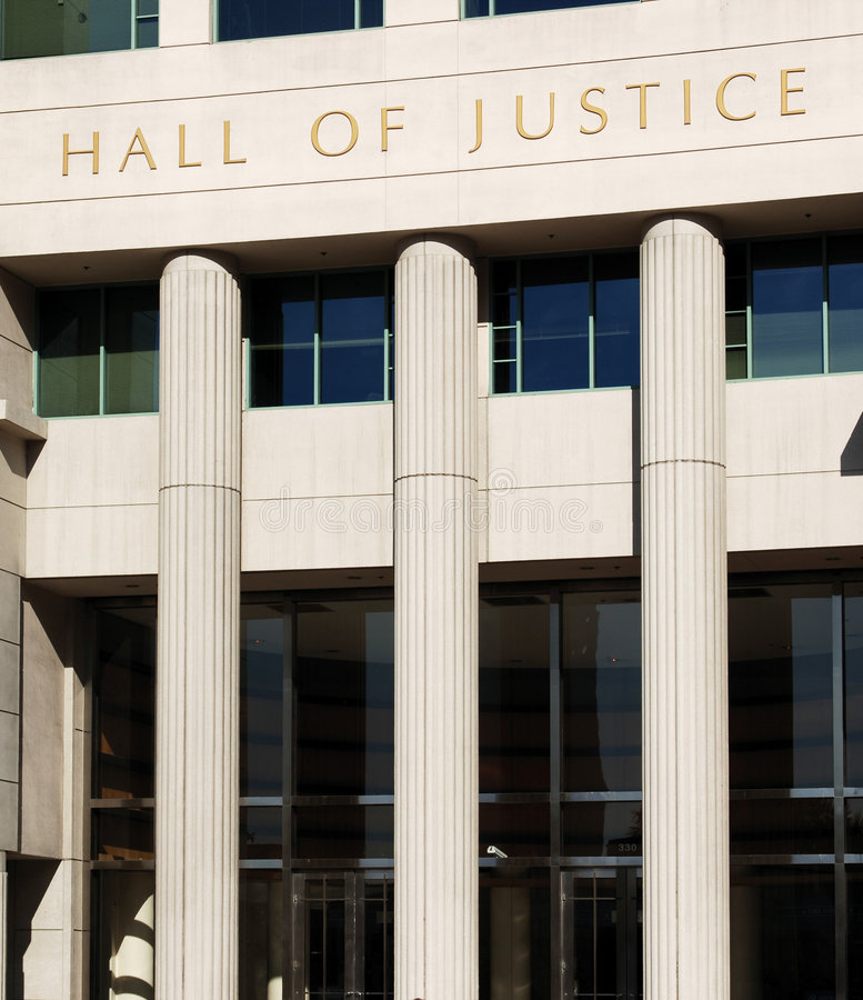 法院大楼 免版税库存图片