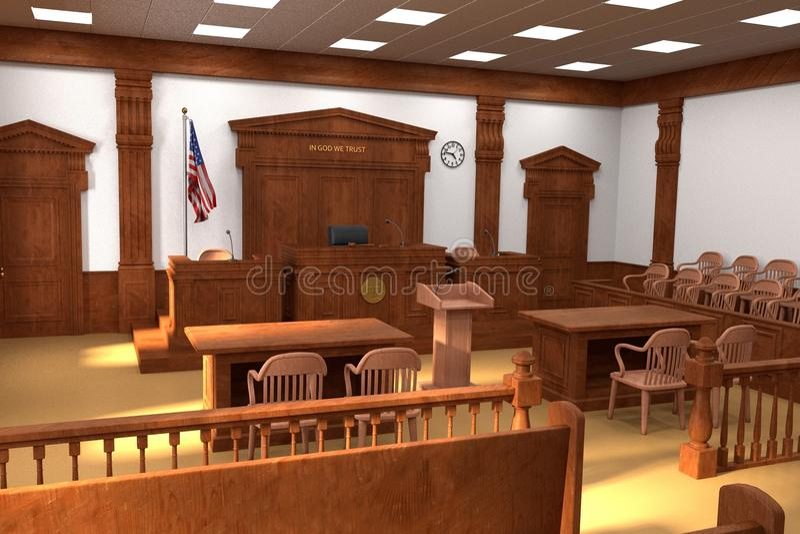 法院室 皇族释放例证