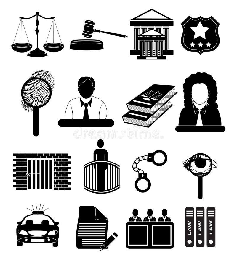 法院法官被设置的正义象 向量例证