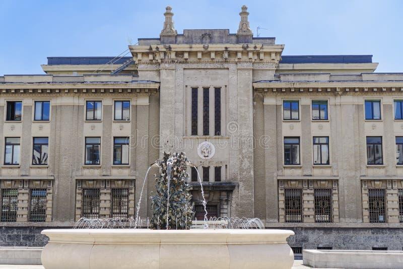 法院的贝加莫,意大利公开Prosecutor's办公室 免版税库存图片