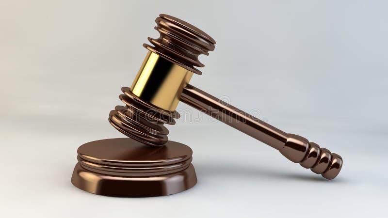 法院锤子法官正义法律律师 皇族释放例证