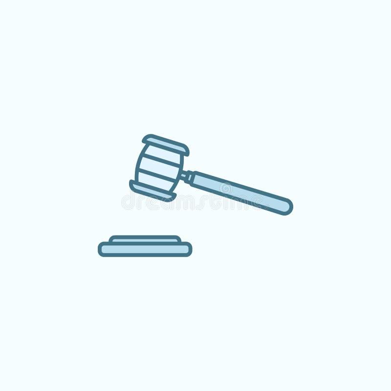 法院锤子领域概述象 罪行象的元素 库存例证