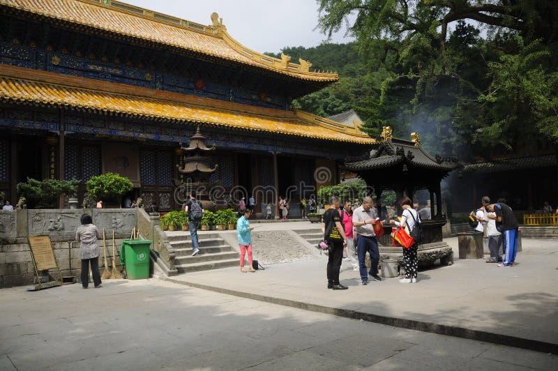 法雨寺Putuoshan中国 免版税图库摄影