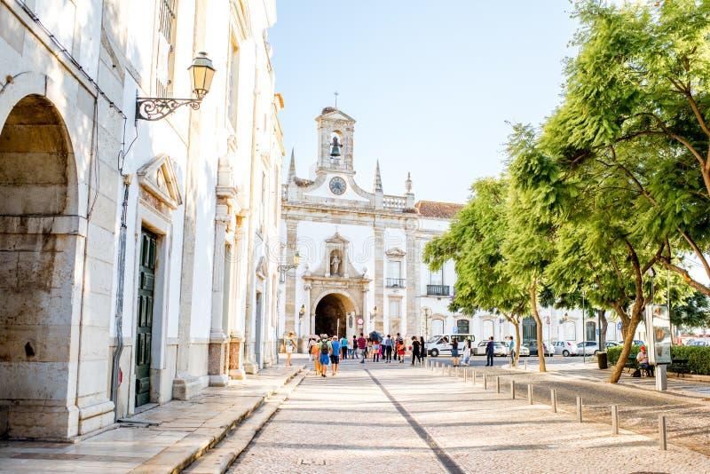 法鲁市在葡萄牙 库存照片