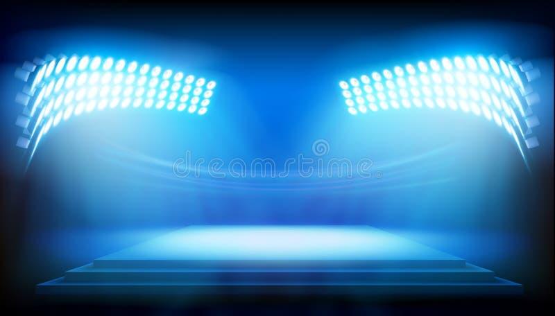 泛光灯阐明的阶段 也corel凹道例证向量 皇族释放例证